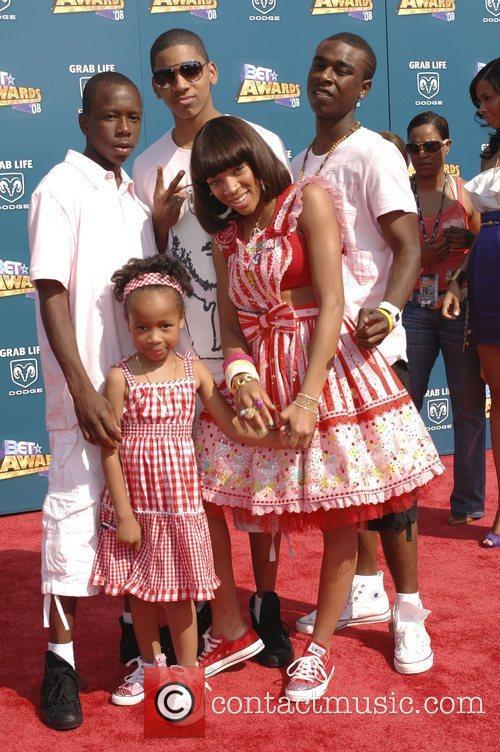 Lil' Mama and guests BET Awards 2008 at...