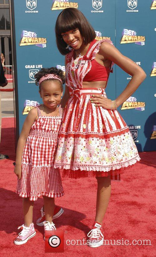 Lil' Mama and guest BET Awards 2008 at...