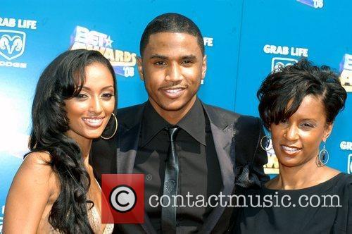 Trey Songz and guests BET Awards 2008 at...