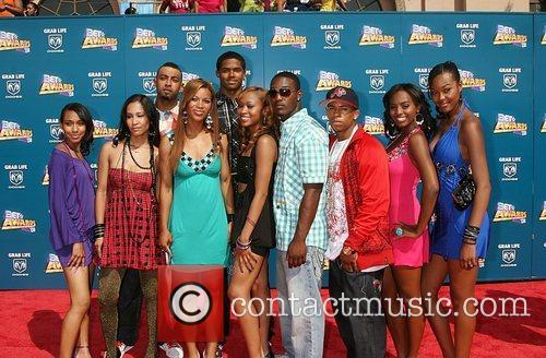Baldwin Hills cast BET Awards 2008 at the...