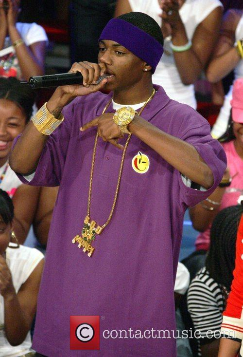 On the set of BET'S '106 and Park'