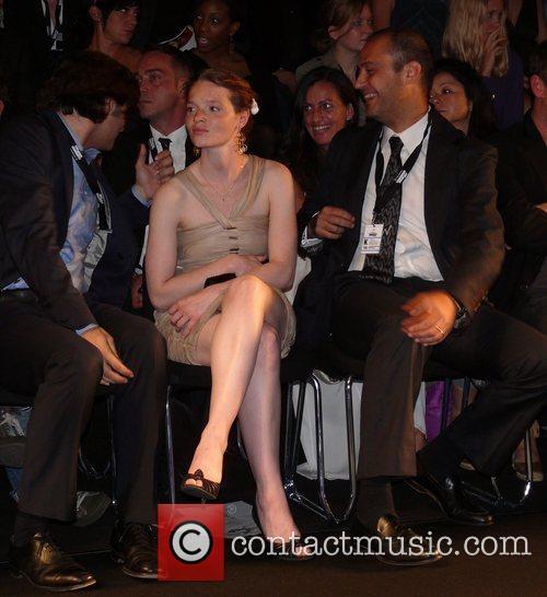 Karoline Herfurth sitting front row Vivienne Westwood Fashion...