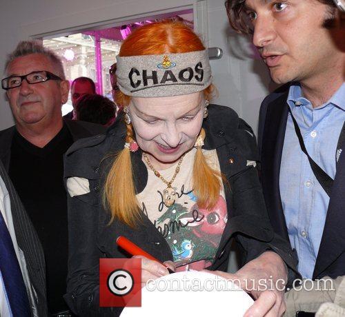 Vivienne Westwood signing autographs Vivienne Westwood Fashion Show...