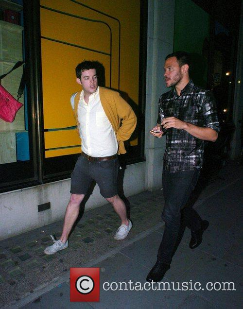 Will Young and a friend Billionaire Boys Club...