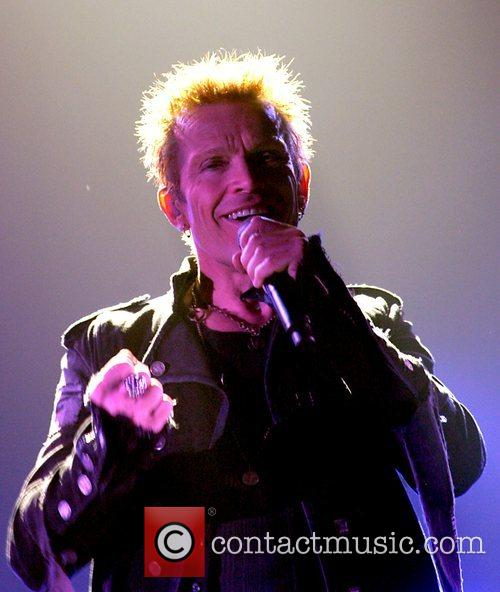 Billy Idol performs live at the Apollo Manchester,...