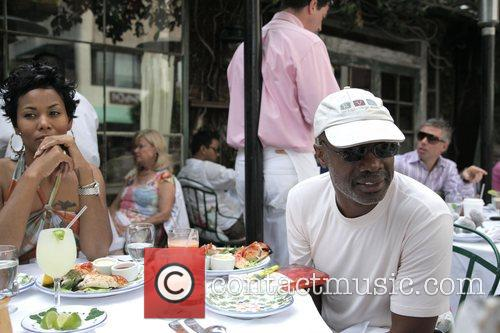 bishop noel jones has lunch with a friend at the ivy 1969247