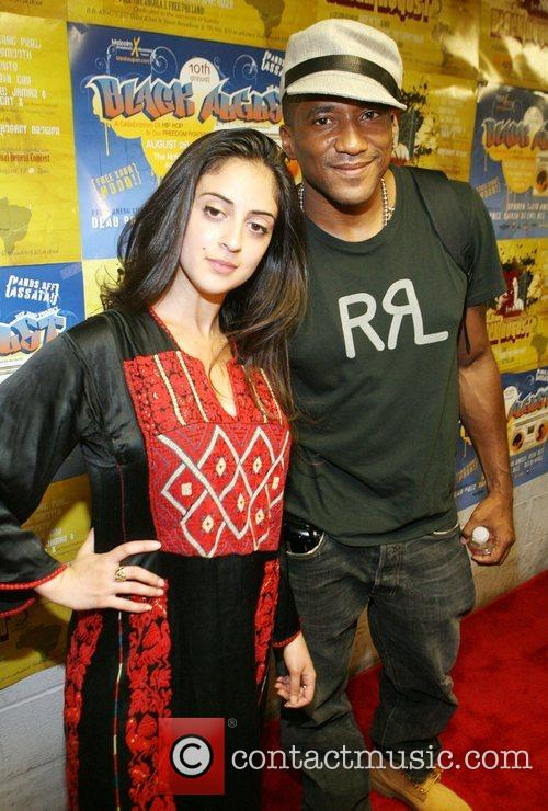 Shadia Mansour and Q-Tip 2008 Black August Benefit...