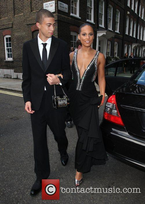 Alicia Keys with her brother Black Ball UK...