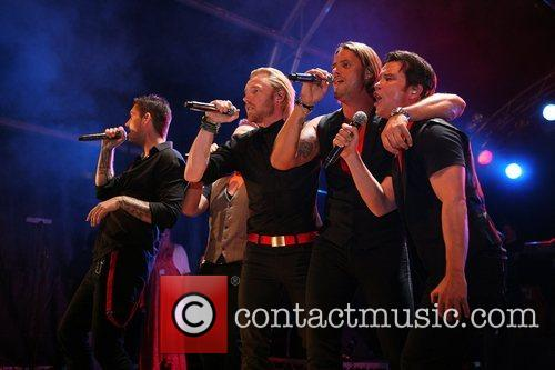 Boyzone Annual ceremony as the Blackpool lights are...