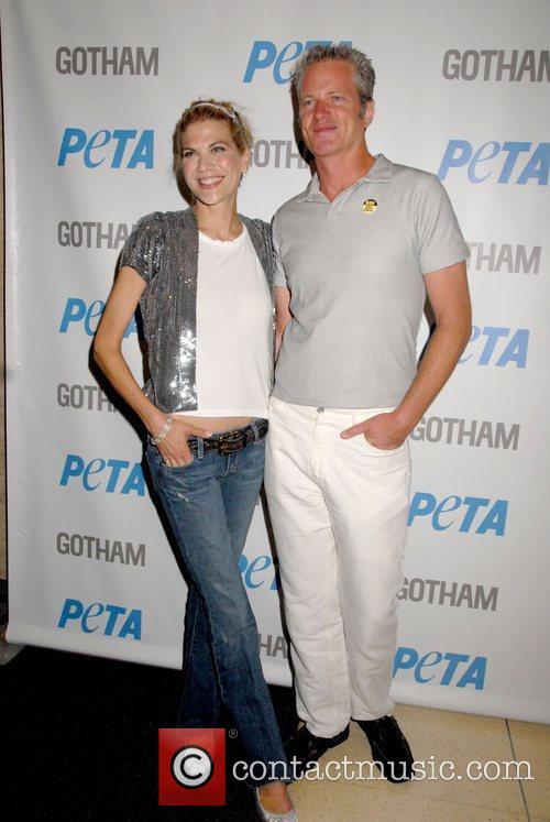 Kristen Johnston and Dan Matthews PETA hosts a...