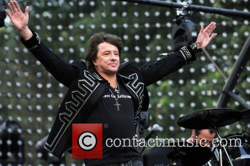 Bon Jovi performing a free concert on the...