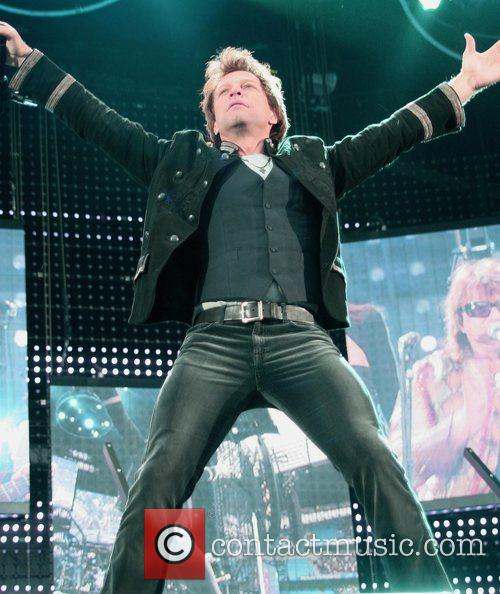 Bon Jovi perform at the Sportcity Arena on...