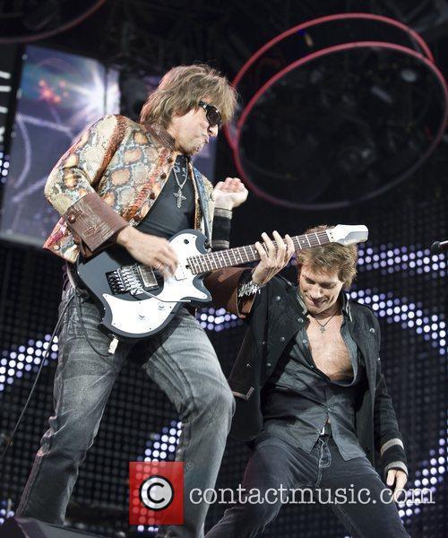 Richie Sambora & Jon Bon Jovi of US...