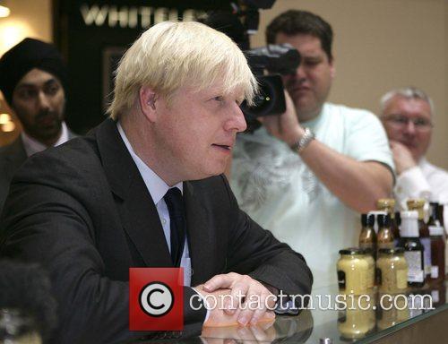 Mayer of London Boris Johnson visits Whiteleys shopping...