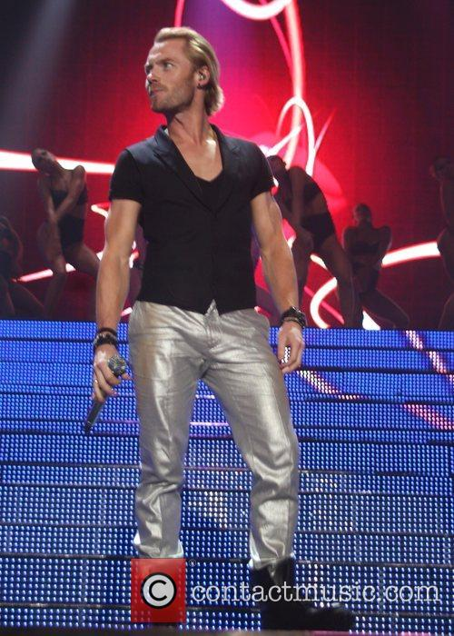 Bozone performing at the Manchester arena