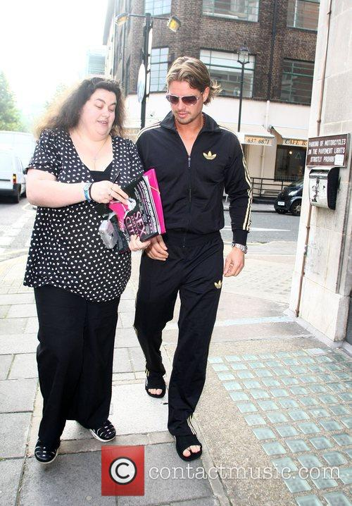 Keith Duffy from Boyzone chats to a fan...