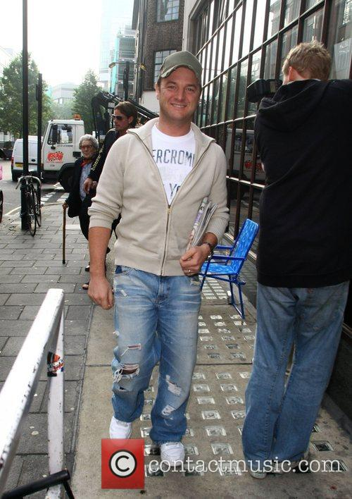 Mikey Graham from Boyzone arrives at the BBC...