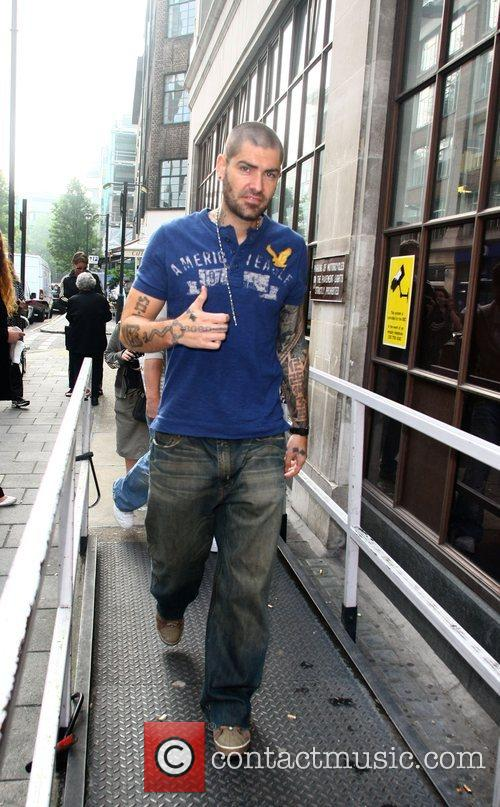 Shane Lynch from Boyzone arrives at the BBC...