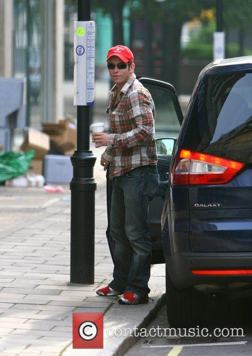 Stephen Gately from Boyzone arriving at the BBC...