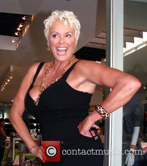 Brigitte Nielsen goes shopping at Kitson boutique on...