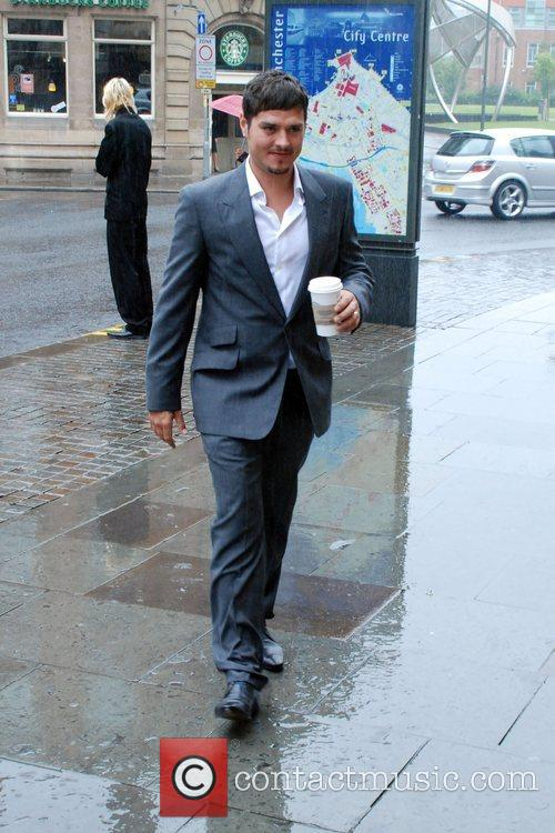 Gets caught in the rain whilst arriving to...