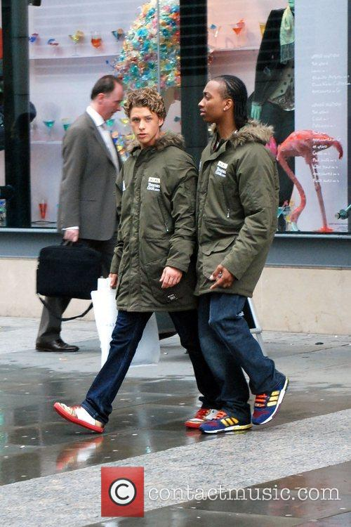 Mitch Hewer and Marcquelle Ward Cast members of...