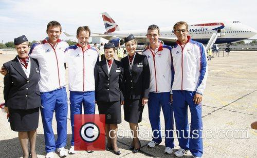 Great Britain's rowing team depart for the 2008...