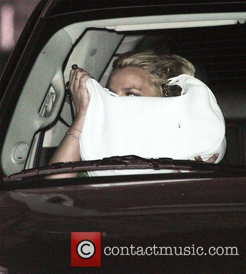 Britney Spears Arriving at Conaway recording studios with...