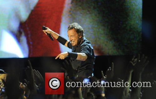 Bruce Springsteen and the E Street Band´s performing...