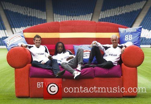 Darren Jackson, Jose Quitongo and Mark Hateley Photocall...