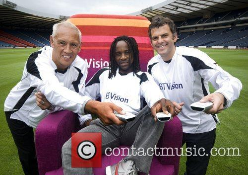 Mark Hateley, Jose Quitongo and Darren Jackson Photocall...