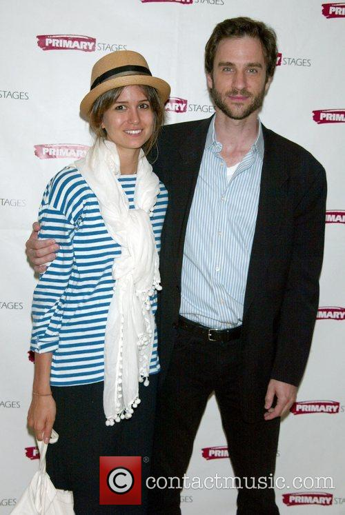 Katherine Waterston and her brother James Waterston attending...