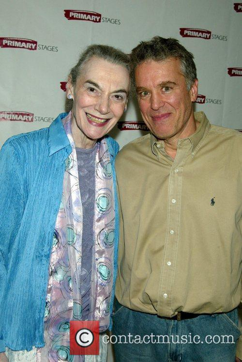 Marian Seldes and Casey Childs attending the opening...