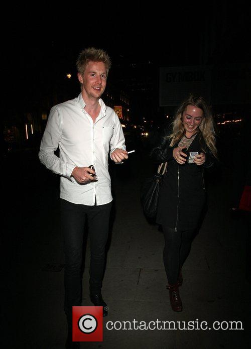 Arriving at Bungalow 8 for Nick Grimshaw's birthday...