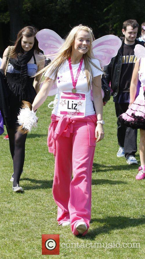 Liz McClarnon BUPA Race for Life held at...