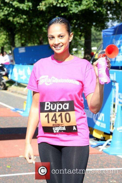 Alesha Dixon BUPA Great Capital Run 10k fun...