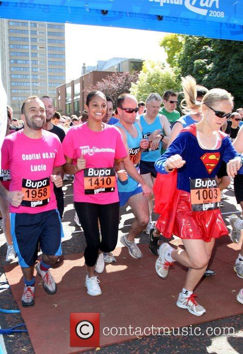 Alesha Dixon running at the start of the...