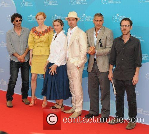 Joel Coen, Brad Pitt and Tilda Swinton 3