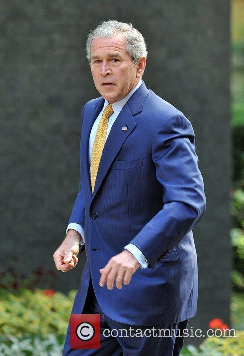 George W. Bush at 10 Downing Street on...