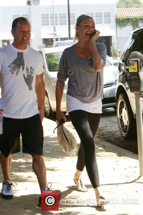 Cameron Diaz arriving at her gym Los Angeles,...