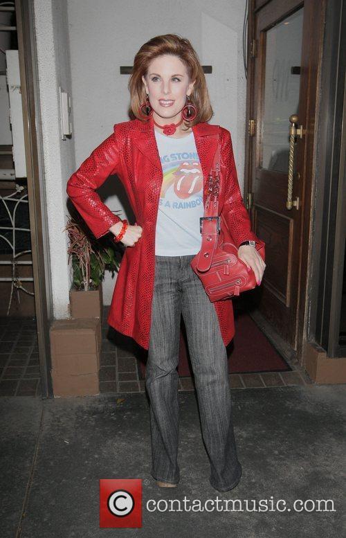 Katherine Kramer leaving Madeo restaurant after having dinner...