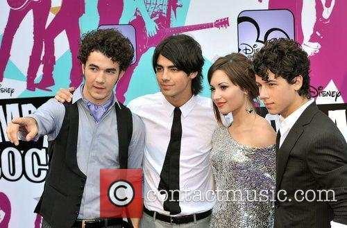Joe Jonas, Nick Jonas, Demi Lovato and Kevin...