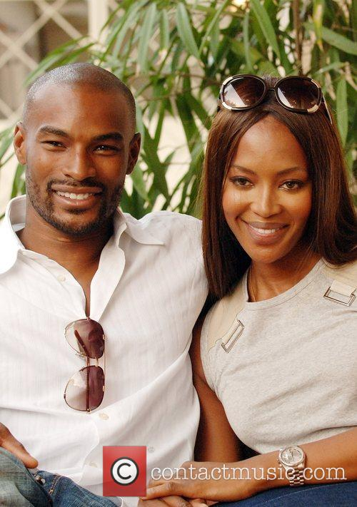 Naomi Campbell and Tyson Beckford in Lagos prior...
