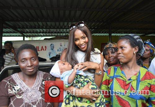 Naomi Campbell visits a children's hospital ahead of...