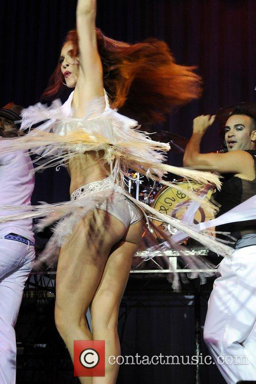 Carmit Bachar  performing in the Zodiac Show...