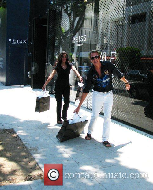 Carson Kressley filming a segment for his television...