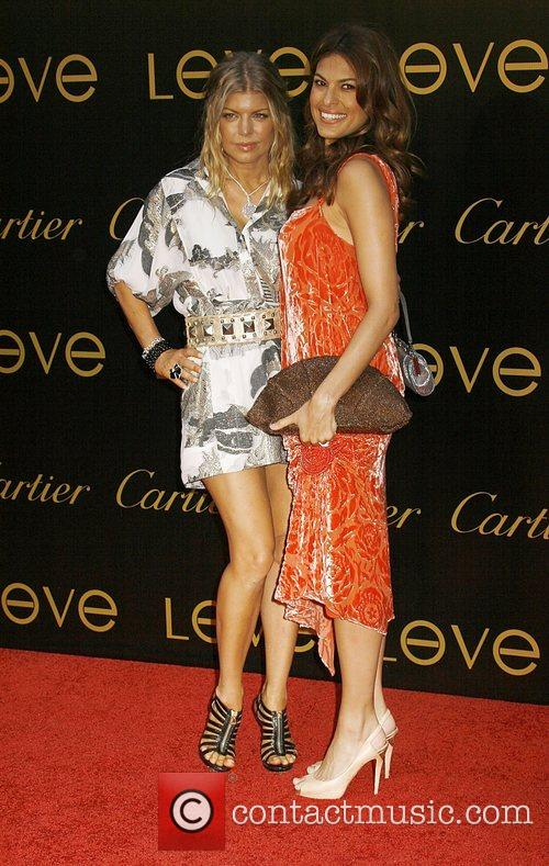 Fergie and Eva Mendes Cartier Charity Love Bracelet...