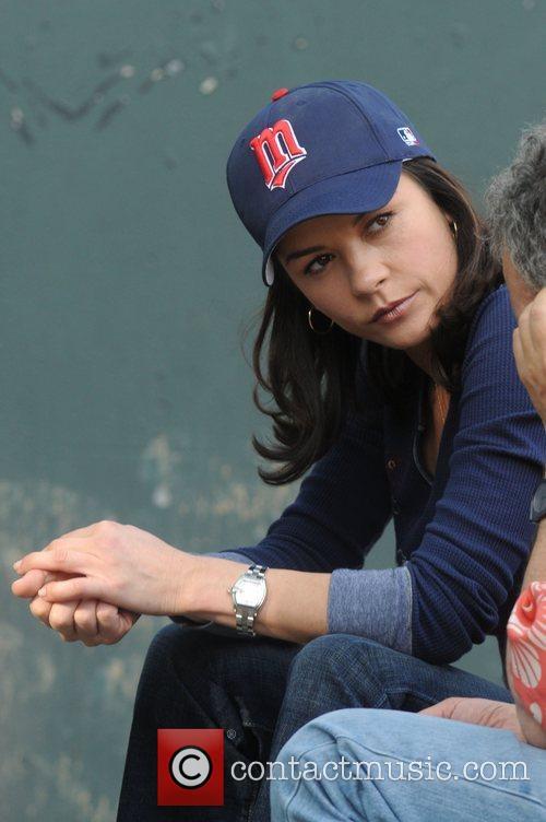 Catherine Zeta-Jones  on the set of her...