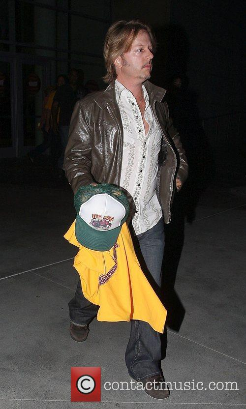 David Spade Leaving the Lakers games Los Angeles,...