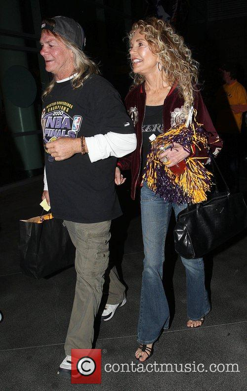 Dyan Cannon Leaving the Lakers games Los Angeles,...